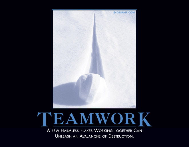 Anti teamwork poster
