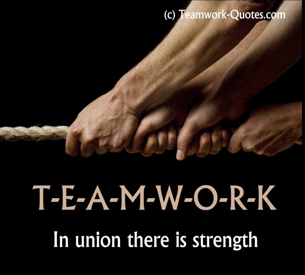 Inspirational team building poster