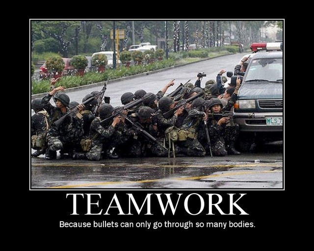 Poster about teamwork