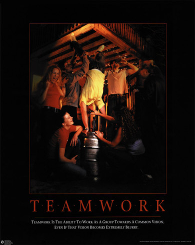 Teamwork Anti Poster