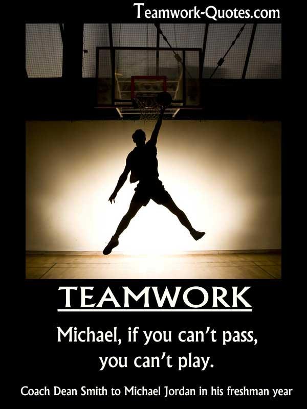 Teamwork poster Michael Jordan