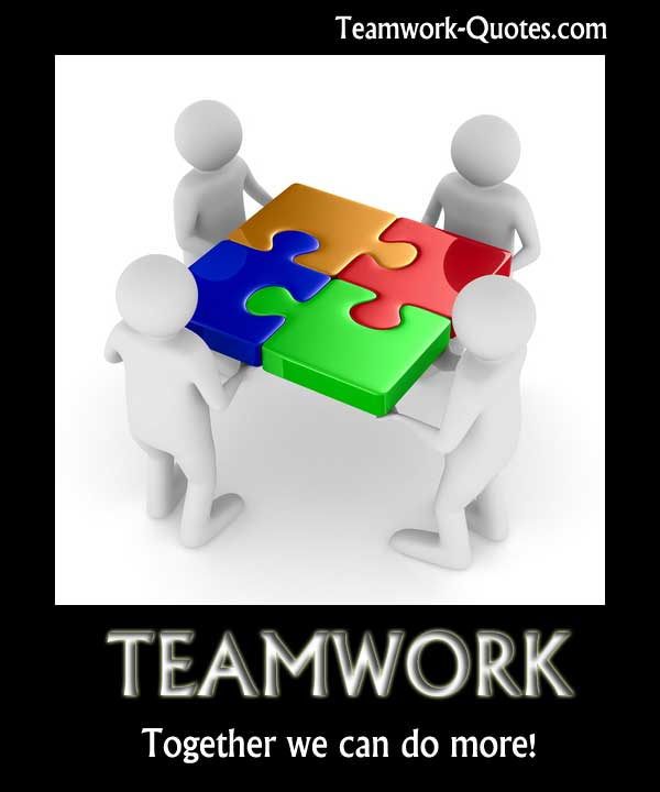 Teamwork Inspirational Poster - Together we can more